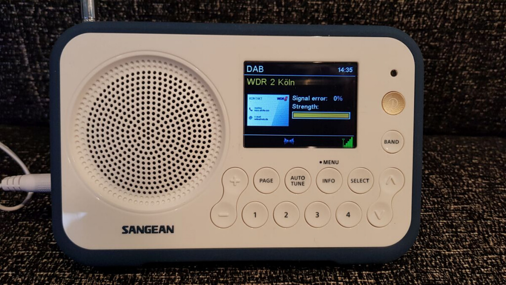 Sangean TRAVELLER 760 DAB+ Display